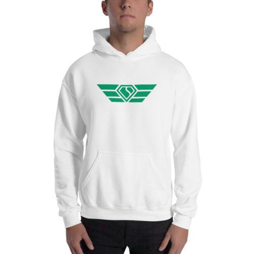 White Hoodie Green Wings