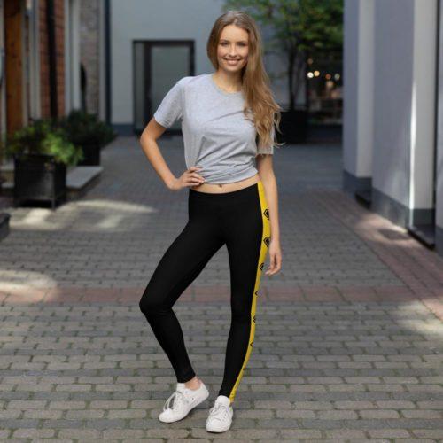 Black Leggings with stripe