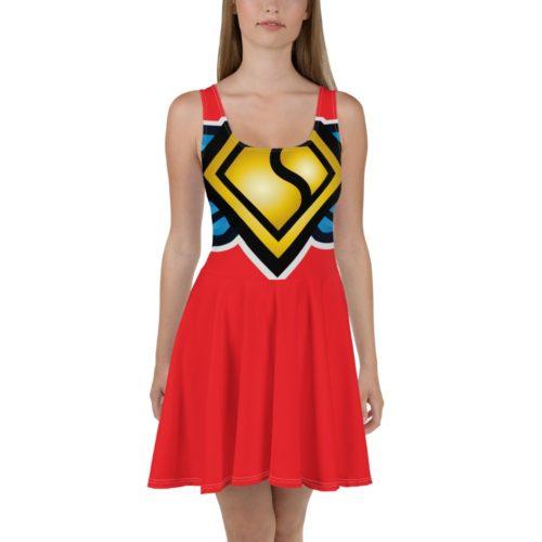 Skater Dress (Red)
