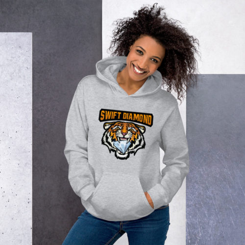 Women Tiger Hoodie - Swift Diamond