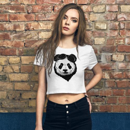 Panda Women's Crop Tee