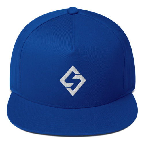 Blue Flat Bill Cap Swift Diamond